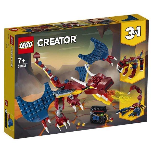31102 Конструктор LEGO Creator Огненный дракон 31102