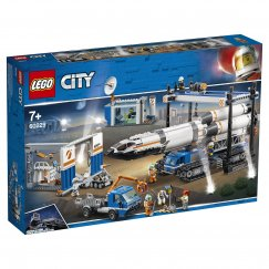Набор лего - Конструктор LEGO City Space Port Площадка для сборки и транспорт для перевозки ракеты
