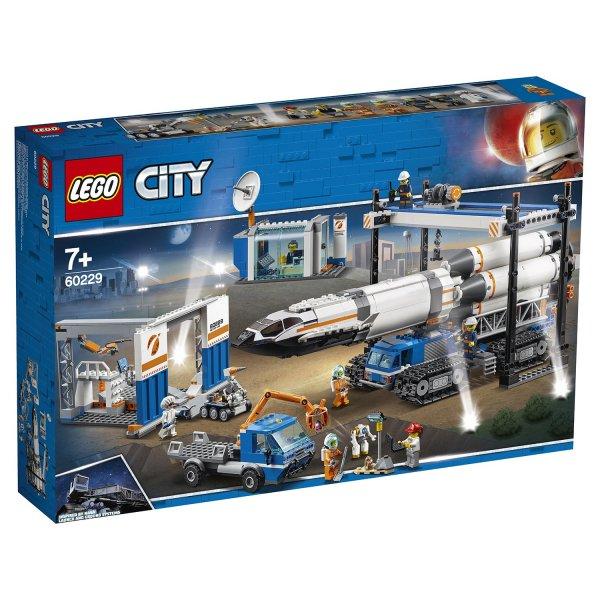 Конструктор LEGO City Space Port Площадка для сборки и транспорт для перевозки ракеты