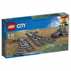 Набор лего - Дополнительные элементы для конструктора LEGO City Рельсы и стрелки