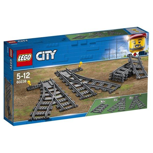 60238 Дополнительные элементы для конструктора LEGO City Рельсы и стрелки