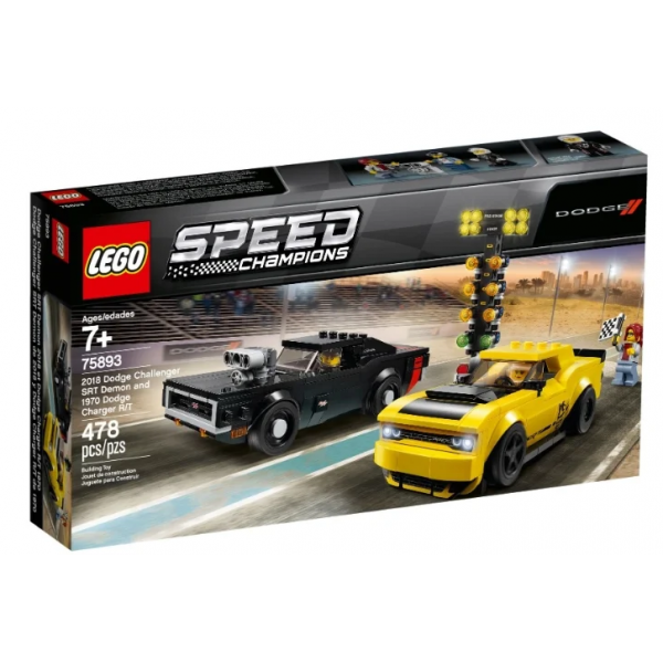 Набор Лего Конструктор LEGO Speed Champions 75893 Додж Чэленджер 2018 и Додж Чарджер 1970
