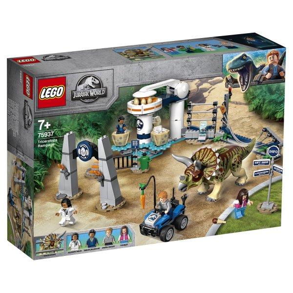 Конструктор LEGO Jurassic World Нападение трицератопса