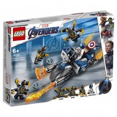 LEGO Marvel Super Heroes 76123 Конструктор LEGO Marvel Super Heroes Капитан Америка: Атака Аутрайдеров