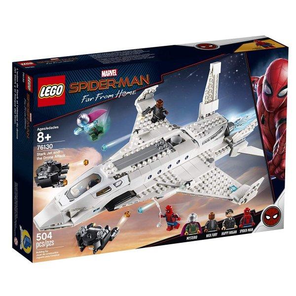76130 LEGO Super Heroes 76130 Реактивный самолет Старка и атака дрона Конструктор