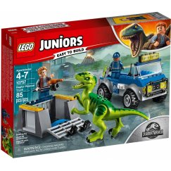 Набор лего - Конструктор LEGO Juniors 10757 Грузовик спасателей для перевозки Раптора