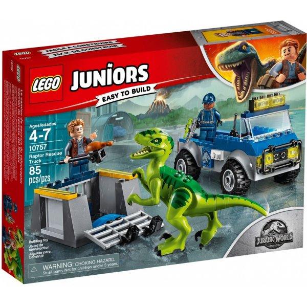 Набор Лего Конструктор LEGO Juniors 10757 Грузовик спасателей для перевозки Раптора