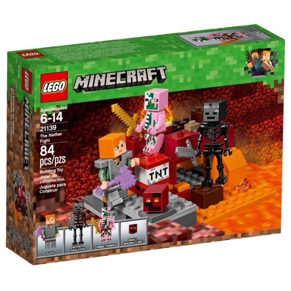 LEGO Minecraft 21139 Бой в Нижнем мире