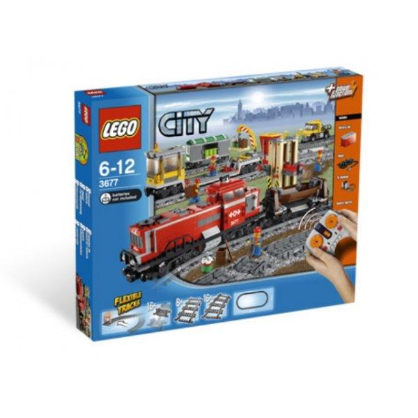 LEGO City 3677 Красный товарный поезд