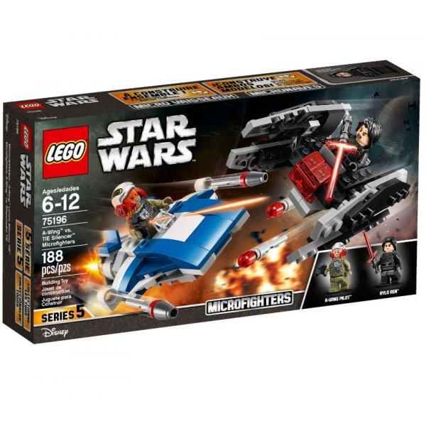 Набор Лего Истребитель A-Wing против истребителя TIE Кайло Рена