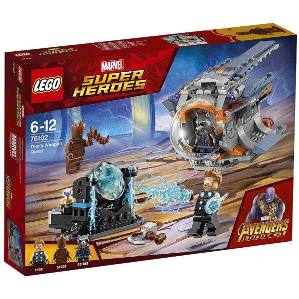 LEGO Marvel Super Heroes 76102 Война бесконечности: В поисках оружия Тора