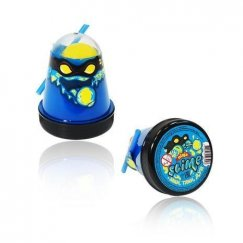 Тянущийся слайм Slime Ninja, Смешивай цвета 2 в 1, Синий, Желтый, 130 гр