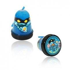 Слаймы SL-S130-20 Тянущийся слайм Slime Ninja, Синий, светится в темноте, 130 гр
