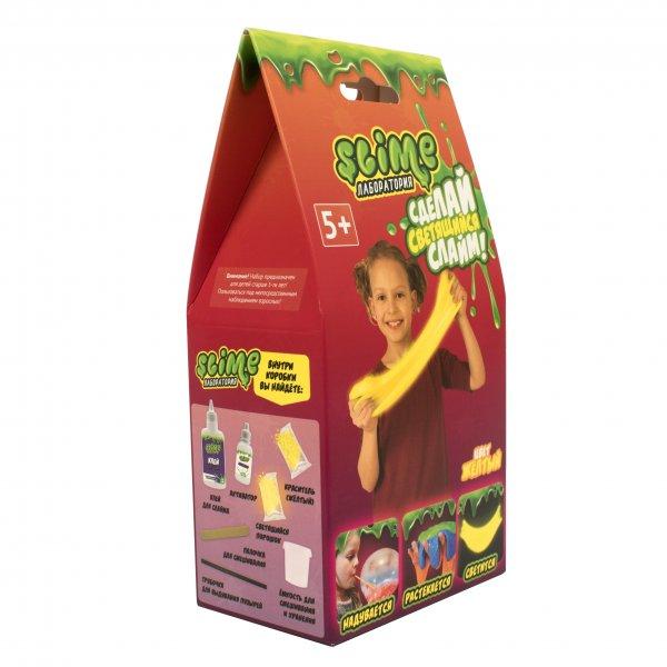 Тянущийся слайм Slime набор Лаборатория, желтый, 100 гр