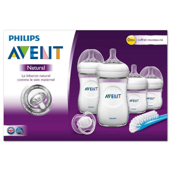 SCD301/01 Philips AVENT Набор для кормления новорождённых, серия Natural, SCD301/01 (6 предметов) с рождения