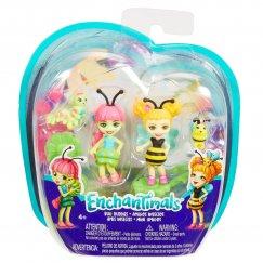 Мини-куклы Mattel Enchantimals  FXM86/FXM88 Игровой набор Гусеница и Беатрис Пчелка