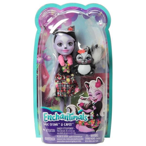 EnchanTimals FXM72 Mattel Enchantimals FXM72 Кукла с питомцем Скунси Седж