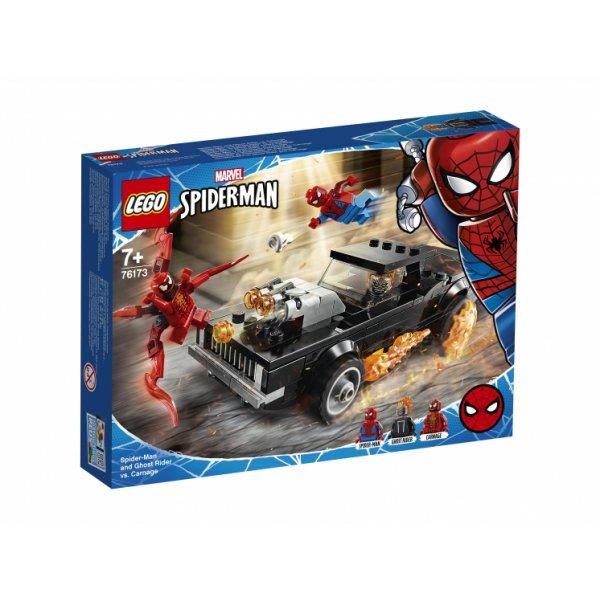 Набор Лего Конструктор LEGO Marvel Super Heroes 76173 Человек-Паук и Призрачный Гонщик против Карнажа