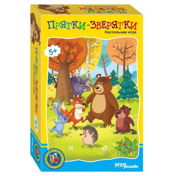 Игра настольная Step Puzzle Прятки-зверятки