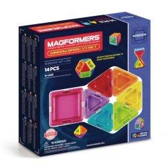 Magformers 714001 Магнитный конструктор 714001 Window Solid 14 set, MAGFORMERS