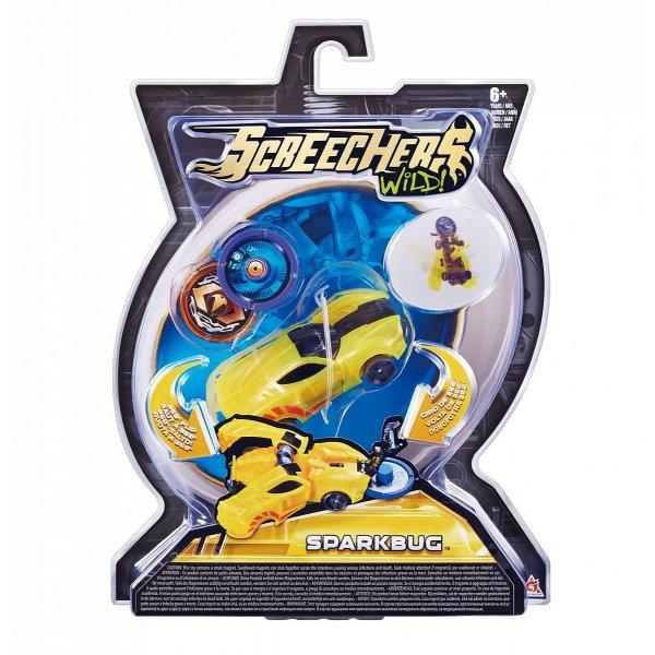 Screechers 34822 Интерактивная игрушка трансформер РОСМЭН Дикие Скричеры. Линейка 1. Спаркбаг (34822)