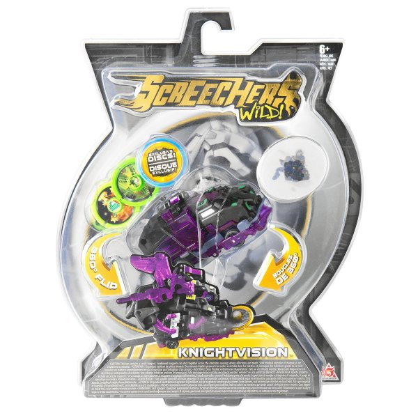 34832 Интерактивная игрушка трансформер РОСМЭН Дикие Скричеры. Линейка 2. Найтвижн (34832)