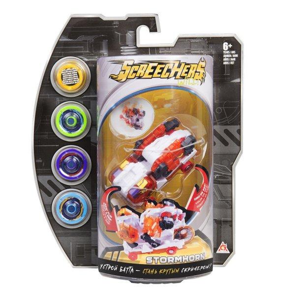 Screechers 35894 Интерактивная игрушка трансформер РОСМЭН Дикие Скричеры. Линейка 3. Стормхорн (35894)
