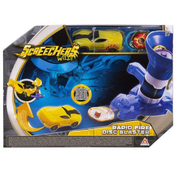 36574 Интерактивная игрушка трансформер РОСМЭН Дикие Скричеры. Запускатели. Бластер для дисков+машинка 36574