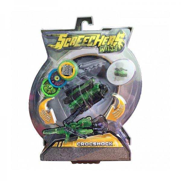 Screechers 34827 Интерактивная игрушка трансформер РОСМЭН Дикие Скричеры. Линейка 2. Крокшок