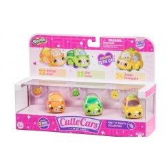 Кукла Shopkins Cutie Cars Три машинки с мини-фигурками