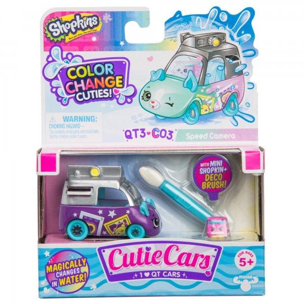 57401 Игровой набор Shopkins Cutie Cars S3 Мини-машинка с кисточкой Меняем цвет Селфи-спринтер