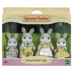 3134/4030 Фигурки Sylvanian Families Семья серых кроликов