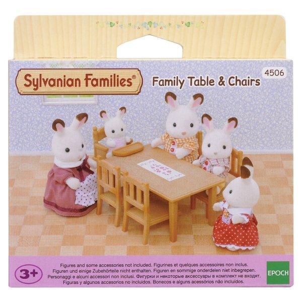 Мебель и аксессуары 4506 Игровой набор Sylvanian Families Обеденный стол с 5-ю стульями