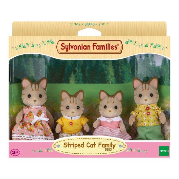 5180 Sylvanian Families Семья полосатых кошек 5180