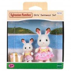 5233 Игровой набор Sylvanian Families Кролики в купальных костюмах
