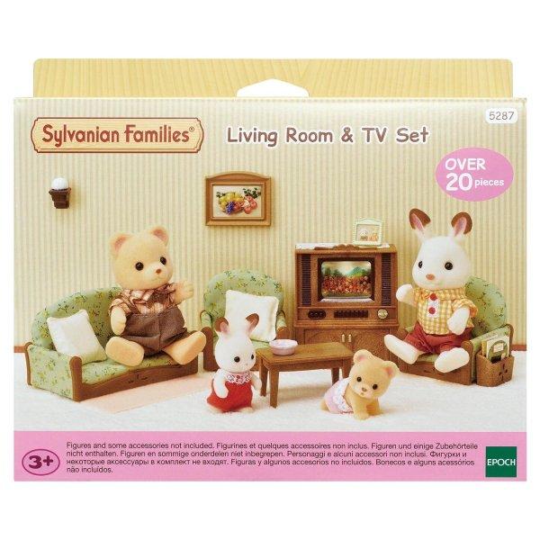 Комнаты 5287 Игровой набор Sylvanian Families Гостиная с телевизором