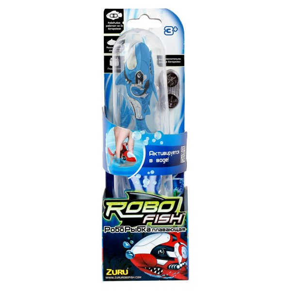 2501-6 2501-6 ZURU РобоРыбка Акула (голубая)