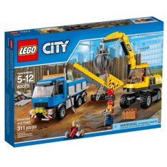 Набор лего - Экскаватор и грузовик